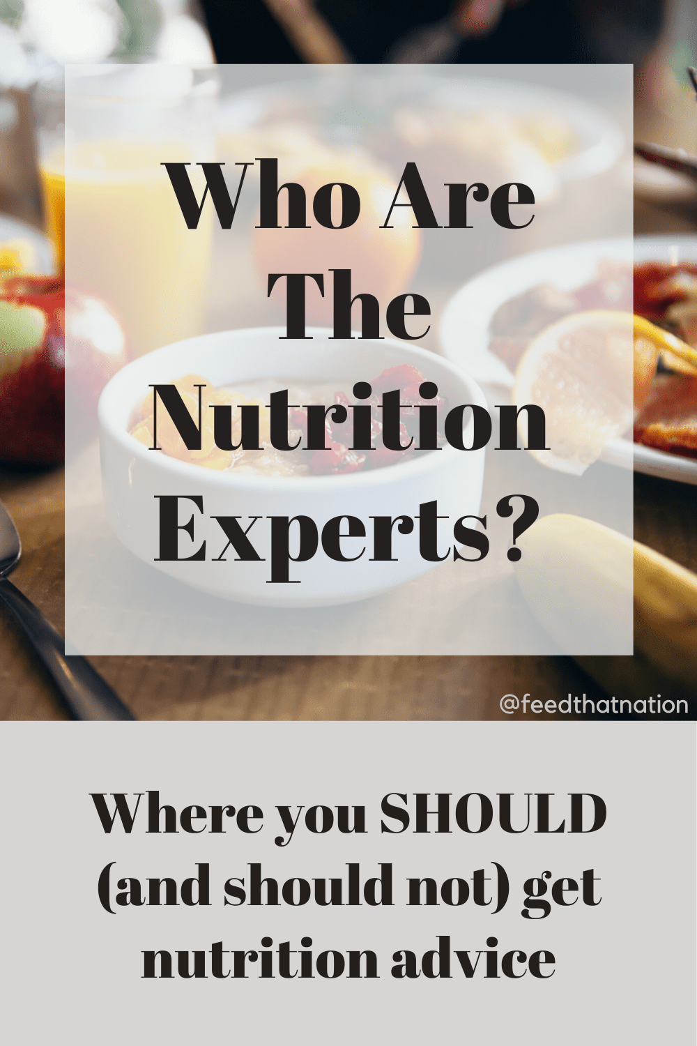 PODCAST: Who Are The Nutrition Experts?