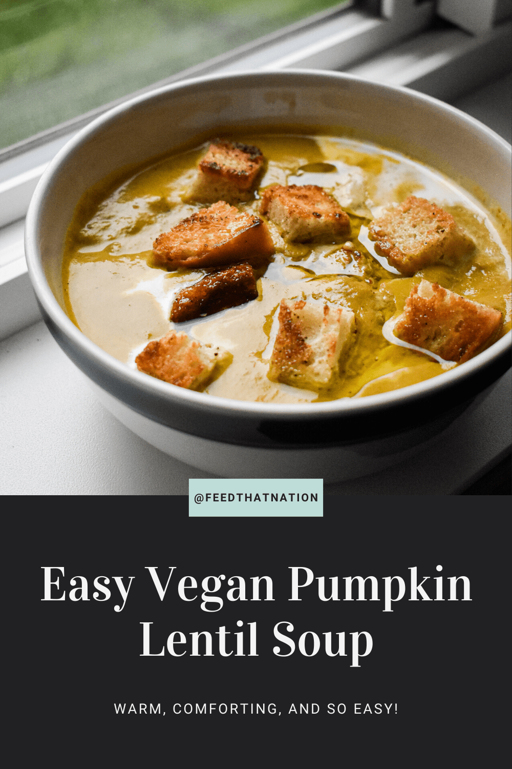 Easy Vegan Pumpkin Lentil Soup