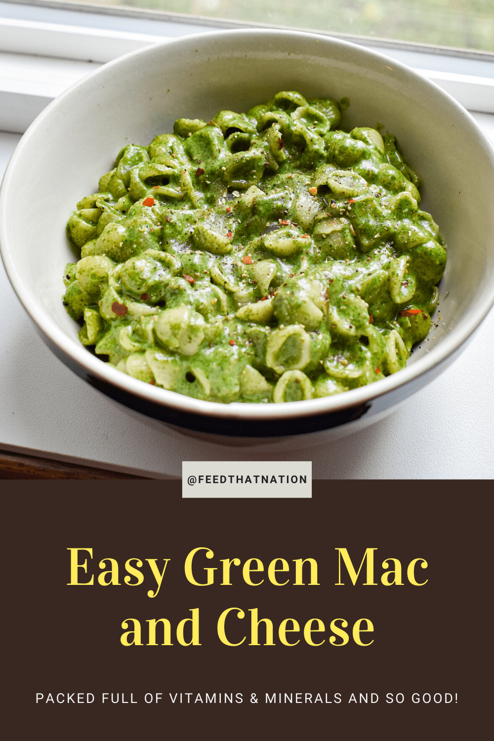 Easy Green Mac And Cheese