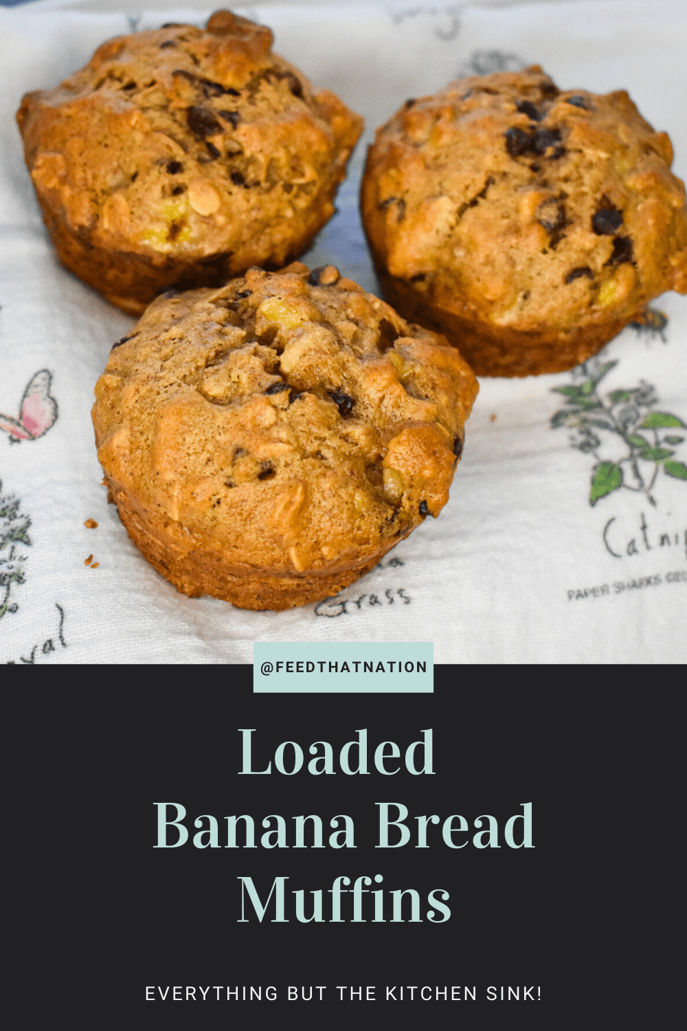 Loaded Banana Bread Muffins