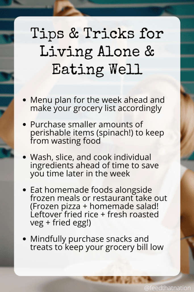 Tips and tricks for living alone and eating well