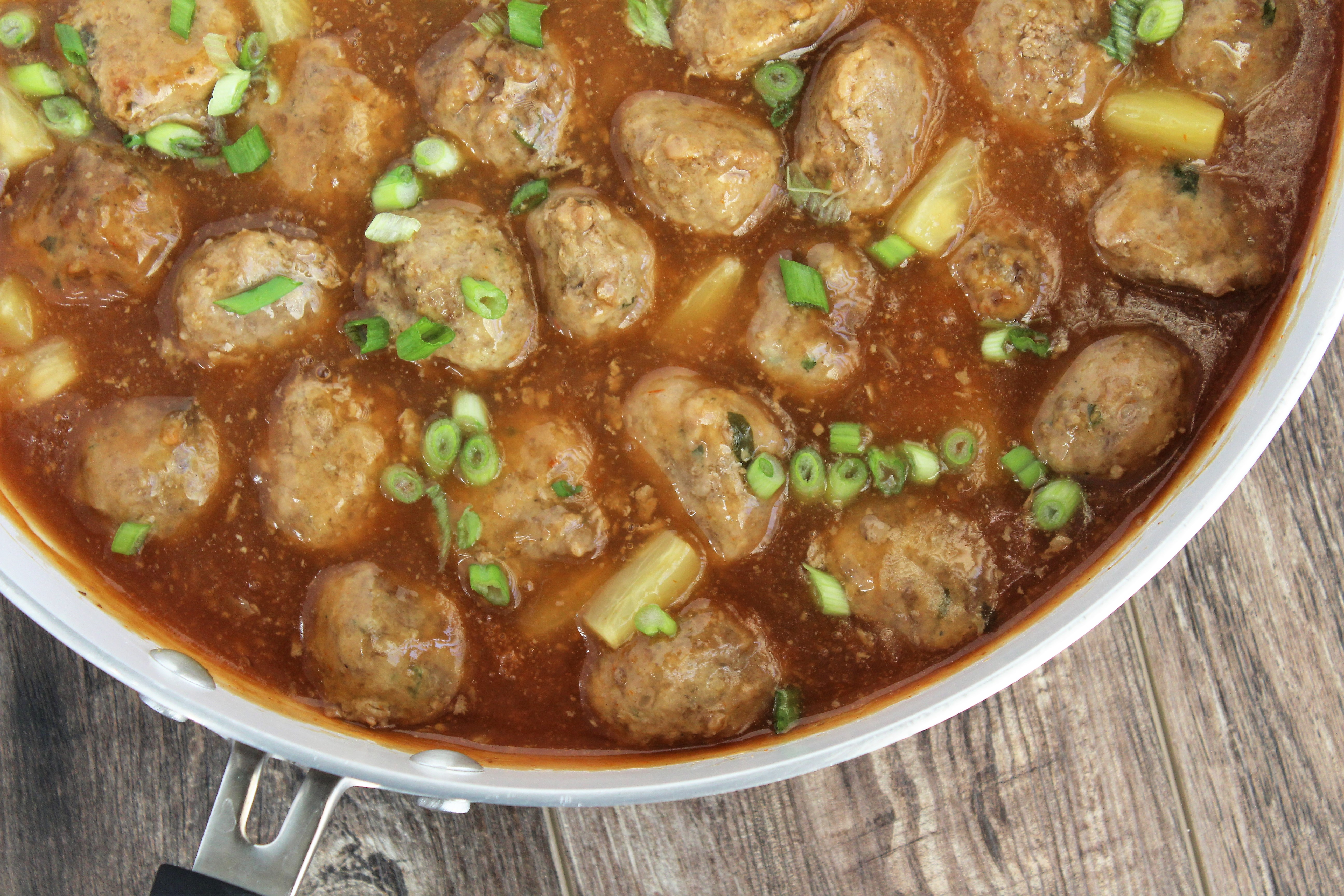 sweet & sour meatballs, whole30, paleo