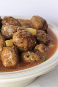 sweet and sour meatballs, whole30, paleo